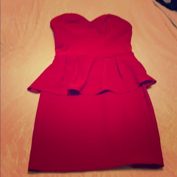 Juniors red Charlotte Russe dress, size medium